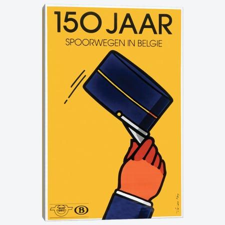 Belgian Train Service, 1835-1985 Canvas Print #VAC1390} by Vintage Apple Collection Canvas Print