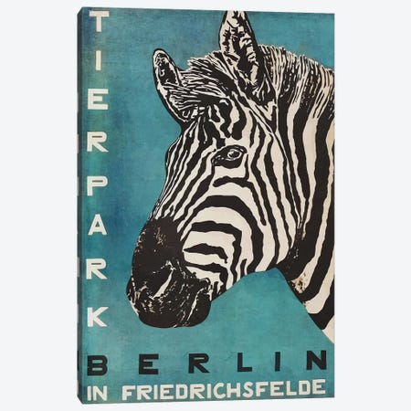 Berlin Tierpark Zebra Canvas Print #VAC1393} by Vintage Apple Collection Canvas Art Print