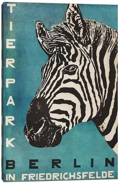 Berlin Tierpark Zebra Canvas Art Print