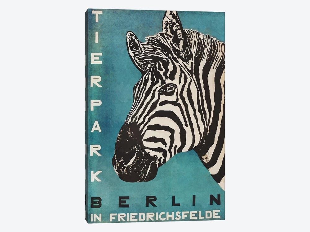 Berlin Tierpark Zebra by Vintage Apple Collection 1-piece Canvas Artwork