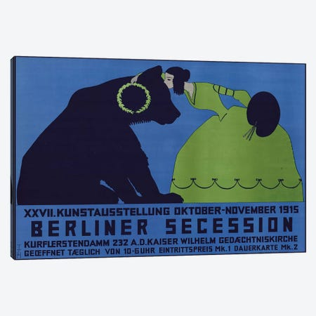 Berliner Secession, October-November 1915 Canvas Print #VAC1395} by Vintage Apple Collection Canvas Wall Art