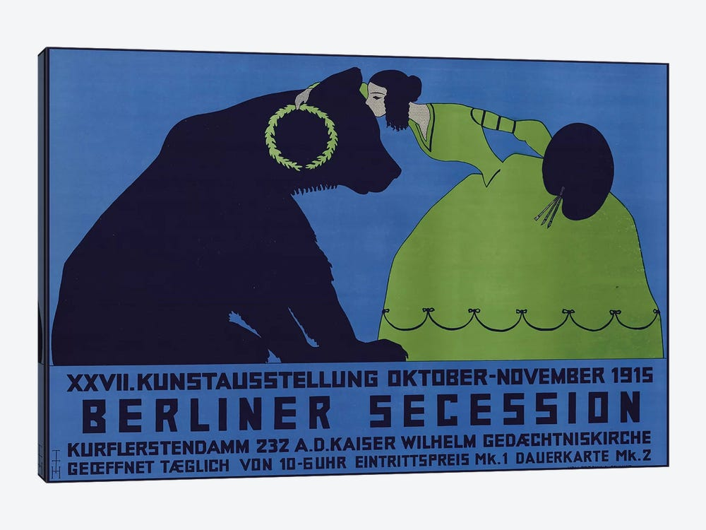 Berliner Secession, October-November 1915 by Vintage Apple Collection 1-piece Canvas Wall Art