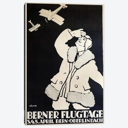 Berner Flugtage Canvas Print #VAC1397} by Vintage Apple Collection Canvas Art