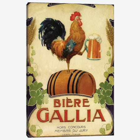 Bière Gallia Canvas Print #VAC1400} by Vintage Apple Collection Canvas Art Print