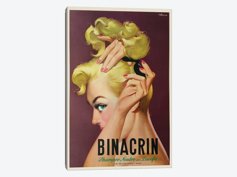 Binacrin Glamour Shampoo, Milan by Vintage Apple Collection 1-piece Canvas Print