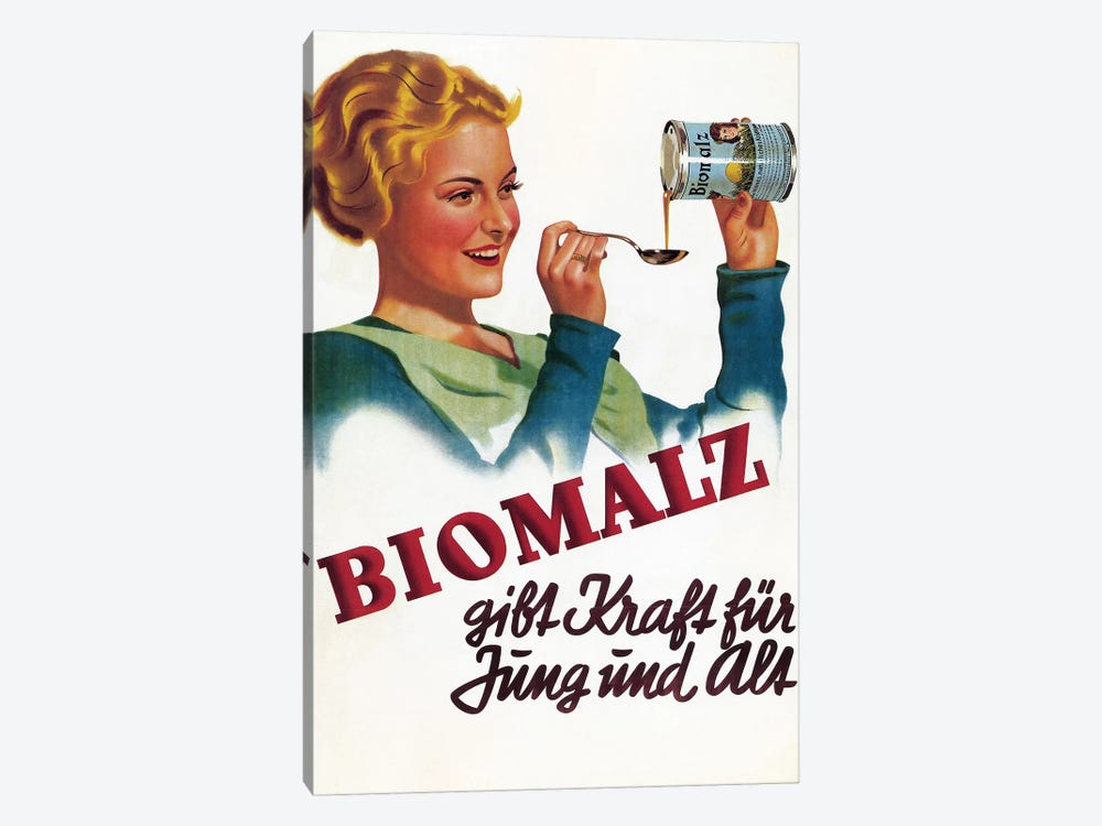 Biomalz Nutritional Supplement by Vintage Apple Collection 1-piece Canvas Wall Art