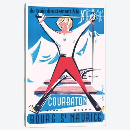 Bourg Saint Maurice Canvas Print #VAC1416} by Vintage Apple Collection Art Print