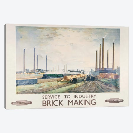 Brick Making British Railways Canvas Print #VAC1421} by Vintage Apple Collection Art Print