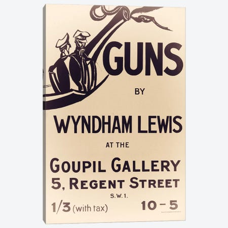 British Guns Canvas Print #VAC1422} by Vintage Apple Collection Art Print