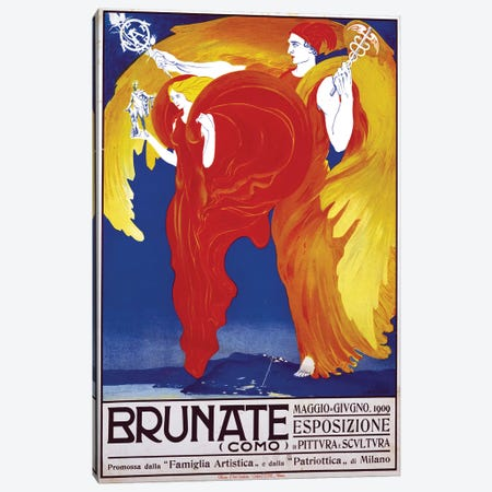 Brunate, 1909 Canvas Print #VAC1423} by Vintage Apple Collection Art Print