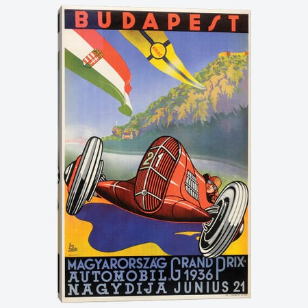 Budapest Grand Prix, 1936 Canvas Print #VAC1424} by Vintage Apple Collection Canvas Artwork