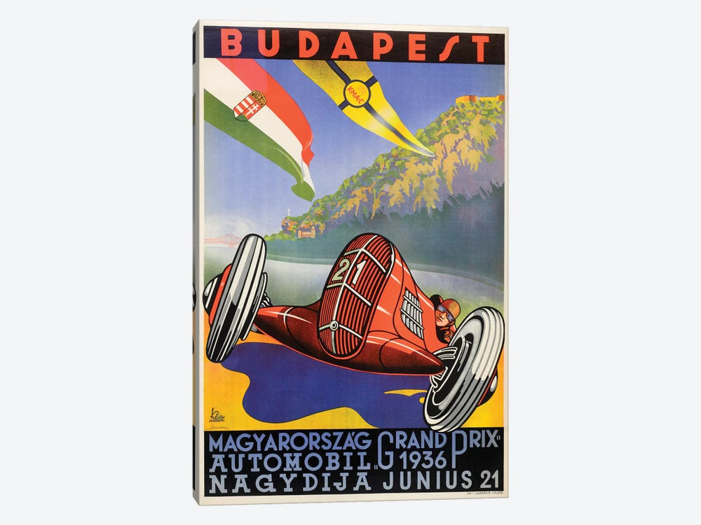 Budapest Grand Prix, 1936 by Vintage Apple Collection 1-piece Art Print