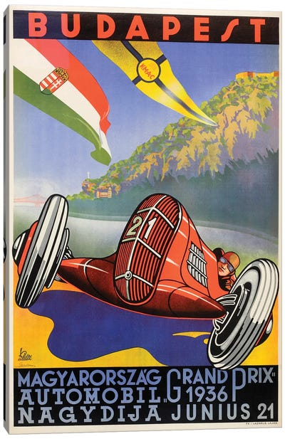 Budapest Grand Prix, 1936 Canvas Art Print