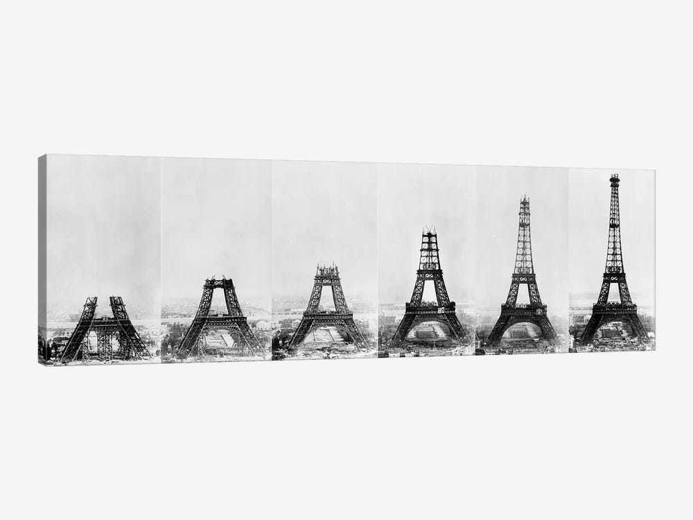 Building Eiffel by Vintage Apple Collection 1-piece Canvas Print