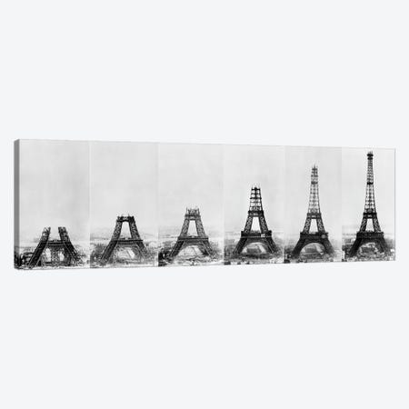 Building Eiffel 3-Piece Canvas #VAC1426} by Vintage Apple Collection Canvas Wall Art