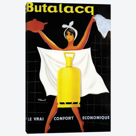Butalaca Ad Canvas Print #VAC1427} by Vintage Apple Collection Canvas Wall Art