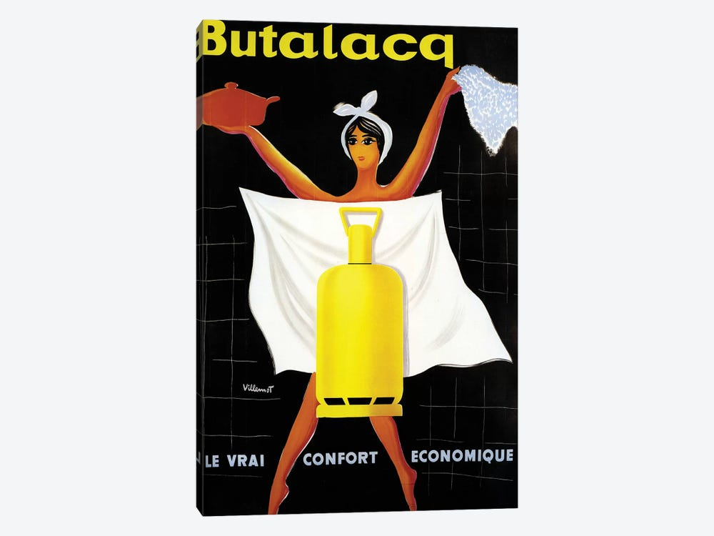 Butalaca Ad by Vintage Apple Collection 1-piece Canvas Wall Art