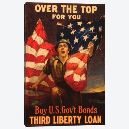 Buy U.S. Government Bonds, WWI Era Poster I Canvas Print #VAC1428} by Vintage Apple Collection Canvas Print