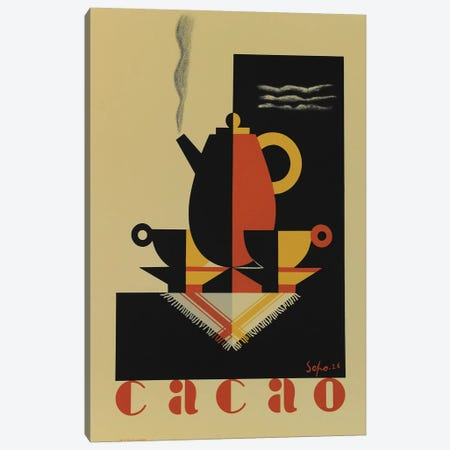 Cacao Canvas Print #VAC1431} by Vintage Apple Collection Canvas Wall Art