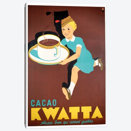 Cacao Kwatta Canvas Print #VAC1432} by Vintage Apple Collection Canvas Artwork