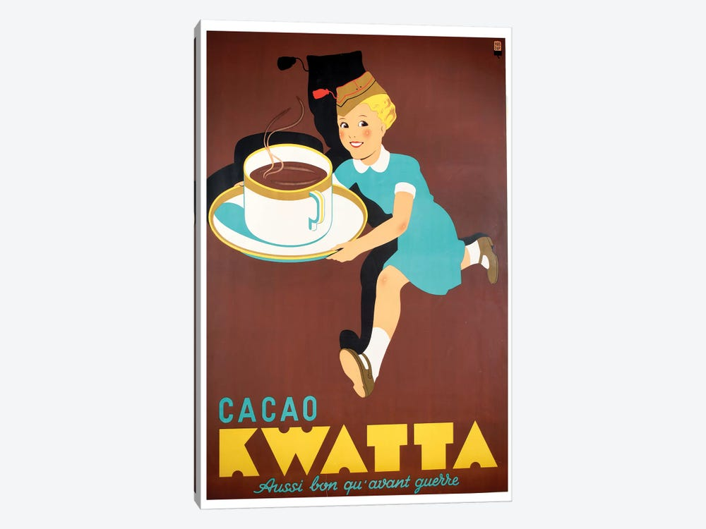 Cacao Kwatta by Vintage Apple Collection 1-piece Canvas Artwork
