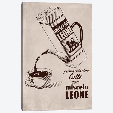 Café Leone Canvas Print #VAC1434} by Vintage Apple Collection Art Print