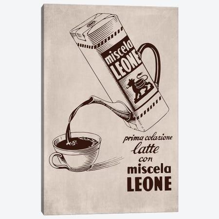 Café Leone Canvas Print #VAC1434} by Vintage Apple Collection Art Print