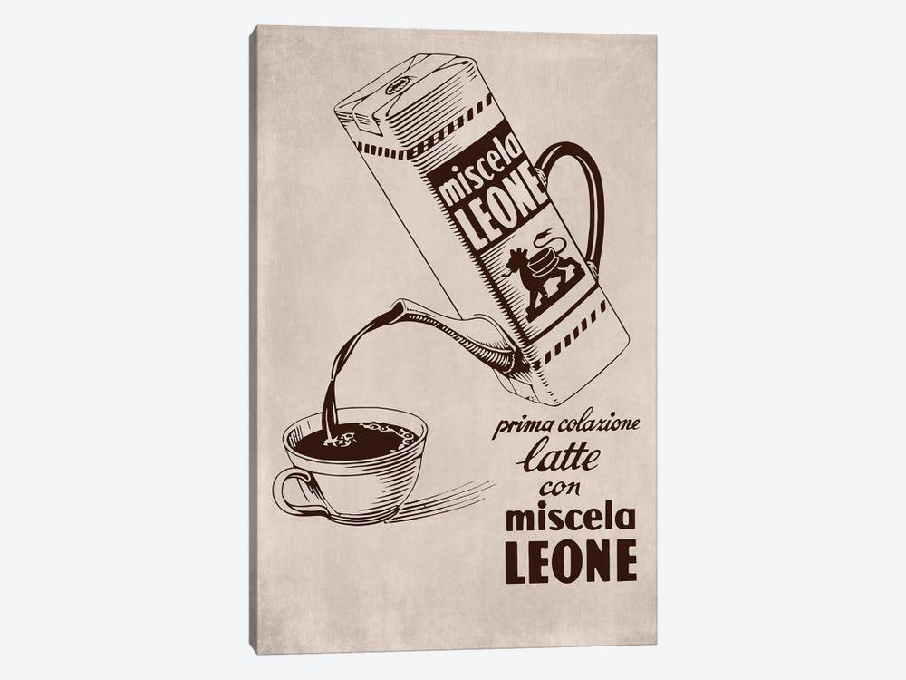 Café Leone by Vintage Apple Collection 1-piece Canvas Artwork