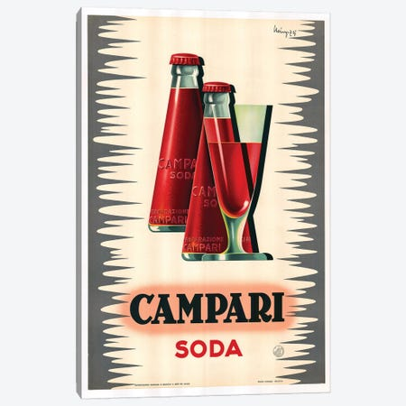 Campari Soda Canvas Print #VAC1439} by Vintage Apple Collection Canvas Art