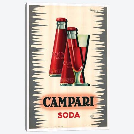 Campari Soda Canvas Print #VAC1439} by Vintage Apple Collection Canvas Art