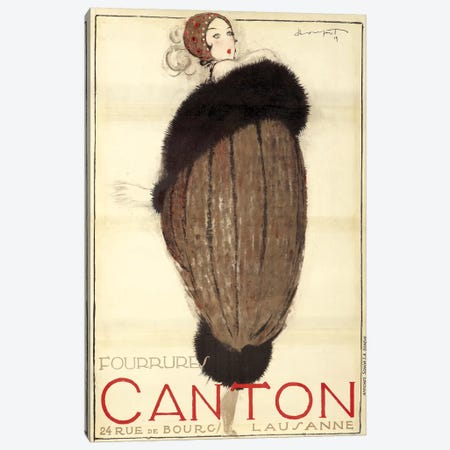 Canton Furs, 1919 Canvas Print #VAC1441} by Vintage Apple Collection Canvas Print