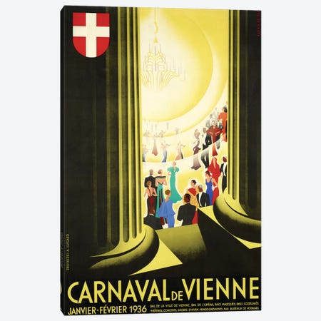 Carnaval de Vienne, 1936 Canvas Print #VAC1443} by Vintage Apple Collection Canvas Print