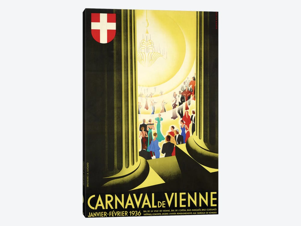 Carnaval de Vienne, 1936 by Vintage Apple Collection 1-piece Canvas Artwork