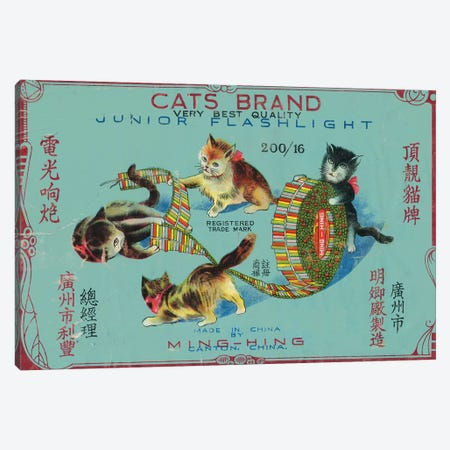 Cats Brand Fireworks, chinese Canvas Print #VAC1447} by Vintage Apple Collection Canvas Wall Art