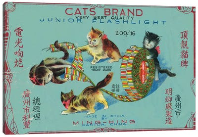 Cats Brand Fireworks, chinese Canvas Art Print