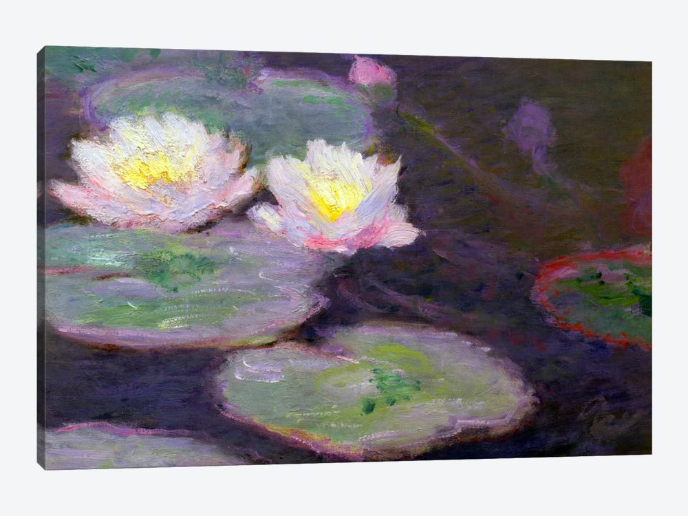Monet, Crop Water Lilies by Vintage Apple Collection 1-piece Canvas Print