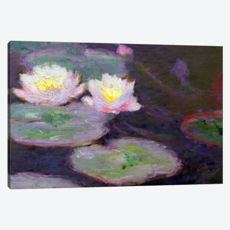 Monet, Crop Water Lilies Canvas Print #VAC144} by Vintage Apple Collection Art Print
