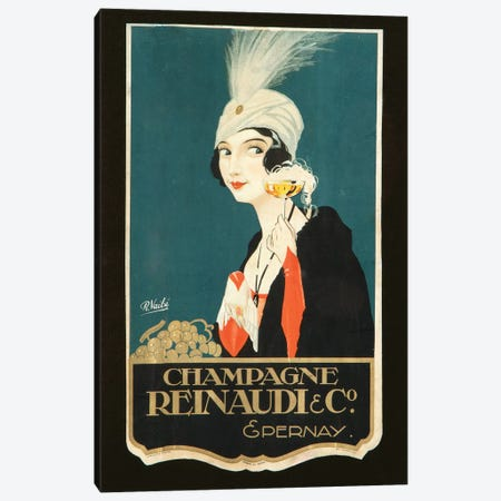 Champagne Renaudi & Co. Canvas Print #VAC1450} by Vintage Apple Collection Canvas Art