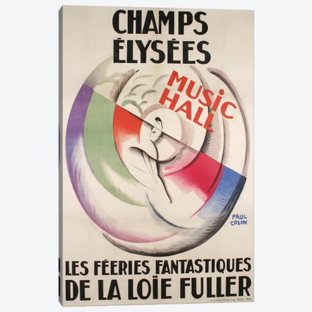 Champs-Élysées Music Hall, 1925 Canvas Print #VAC1451} by Vintage Apple Collection Canvas Art
