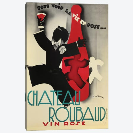 Chateau Rouband Vin Rose Canvas Print #VAC1454} by Vintage Apple Collection Canvas Print