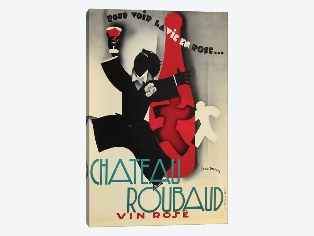 Chateau Rouband Vin Rose by Vintage Apple Collection 1-piece Canvas Art