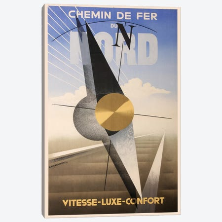 Chemin de Fer Du Nord Canvas Print #VAC1455} by Vintage Apple Collection Art Print