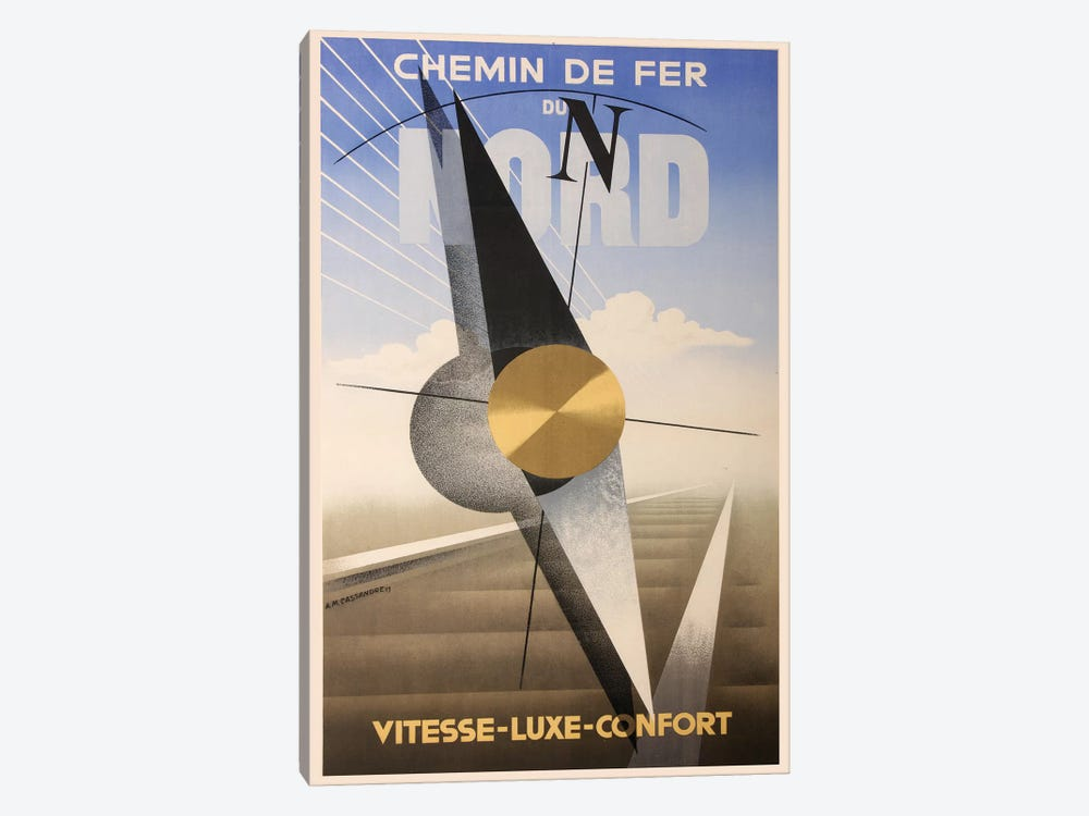 Chemin de Fer Du Nord by Vintage Apple Collection 1-piece Art Print