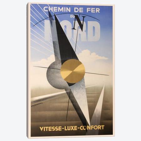 Chemin de Fer Du Nord 3-Piece Canvas #VAC1455} by Vintage Apple Collection Art Print