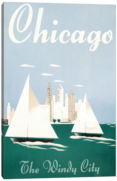 Chicago, Windy City Canvas Art Print