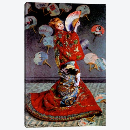 Monet, Japanese Dress Canvas Print #VAC145} by Vintage Apple Collection Canvas Print
