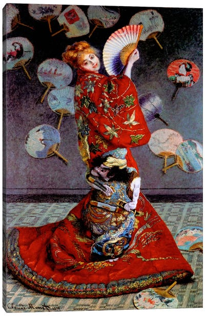 Monet, Japanese Dress Canvas Art Print