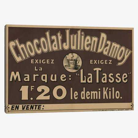 Chocolat Julien Damoy Canvas Print #VAC1463} by Vintage Apple Collection Art Print