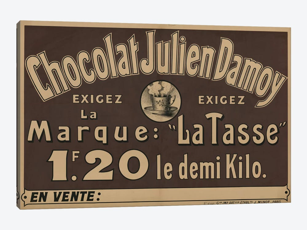 Chocolat Julien Damoy by Vintage Apple Collection 1-piece Canvas Artwork