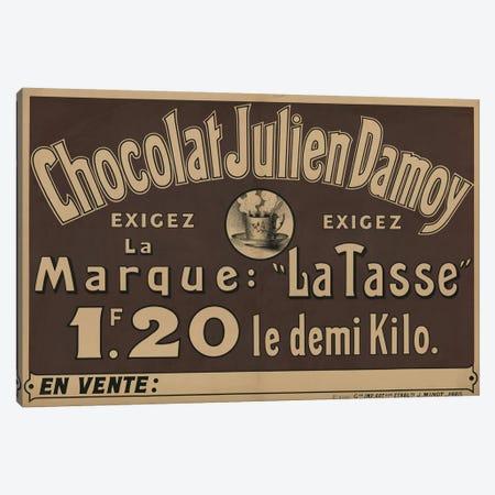 Chocolat Julien Damoy Canvas Print #VAC1463} by Vintage Apple Collection Art Print